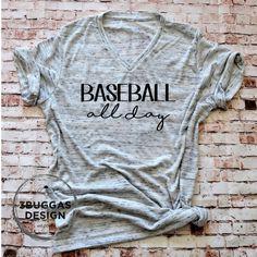Baseball All Day shirt Baseball Mom t-shirt baseball momma