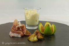 gelato al parmigiano su letto di prosciutto crudo e fichi carmamellati
