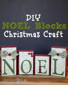 DIY Noel blocks Christmas craft (scheduled via http://www.tailwindapp.com?utm_source=pinterest&utm_medium=twpin&utm_content=post265221&utm_campaign=scheduler_attribution)