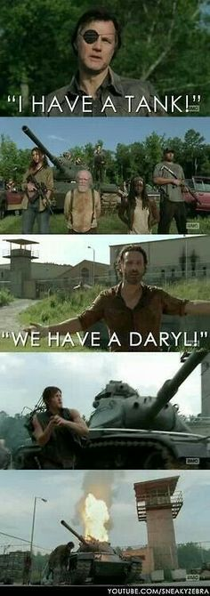 The Walking Dead - My Daryl is no match for your tank!