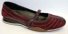 Cole Haan 'Air Bria Stitch' Brick Red Suede Ballet Flat Size 8.5B #ColeHaan #MaryJanes