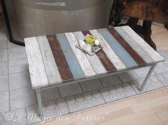 table basse salon style bord de mer