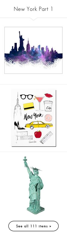 """""""New York Part 1"""" by leanne-mcclean ❤ liked on Polyvore featuring text, backgrounds, words, quotes, pictures, magazine, phrases, saying, home and home decor"""