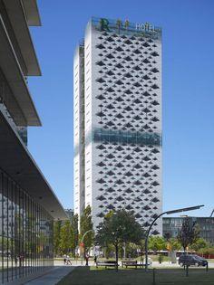 jean nouvel applies floral facade to barcelona hotel - designboom | architecture & design magazine
