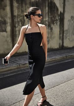 Halter Neck Dress | Christopher Esber | Black Dress | Backless | Style | Outfit | HarperandHarley