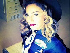 Hair stylist Andy LeCompte knew curls would be the perfect look for Madonna's Boy Scout ensemble. #beauty