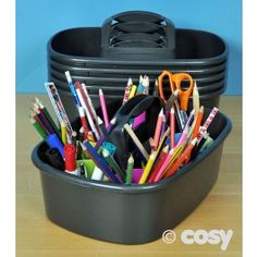 These larger holders are brilliant for carrying about outdoors, make sure you have everything with you when you need it for writers corner. They also fit well in the writers shed. 35cm x 24cm x 10cm. Colours may vary. Set of 6. Contents not included.