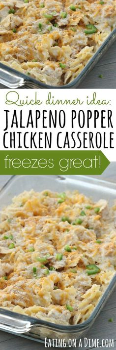 freezer friendly jalapeno popper chicken casserole