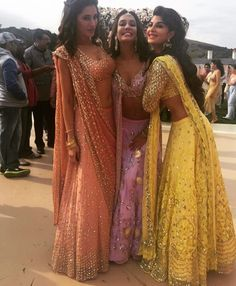 Classic brides maid look # Lisa Ray # nargis Fakhri# Jacqueline # lehenga # peppy colours # day event look bollywood actresses BOLLYWOOD ACTRESSES : PHOTO / CONTENTS  FROM  IN.PINTEREST.COM #BLOG #EDUCRATSWEB
