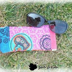Une pochette Mirette pour y glisser mes lunettes de soleil. #coutureaddict#couture#sew#sewingaddict#diy#passion#faitmain#accessoire#coton#pochette#lunettes#mirette @verosacotin