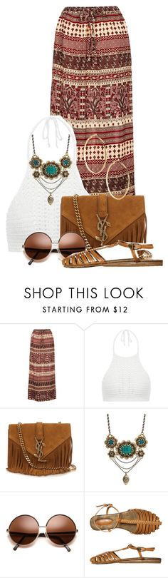 """""""etnic"""" by sally92 on Polyvore featuring moda, Yves Saint Laurent, Lucky Brand e GUESS by Marciano"""