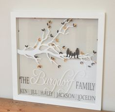 Custom Family Tree Branch with Names Floating by TheLoveNerds, $40.00