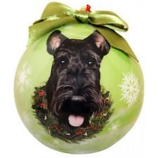 SCOTTISH TERRIER  ~ CHRISTMAS BALL ORNAMENT