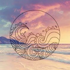 Keeping this for a mosaic mandala geometric design of the ocean with a sunset off of Hawaii island tropical Trendy Tattoos, Cool Tattoos, Tattoo Sketch, Hipster Vintage, See Tattoo, Hennas, Piercing Tattoo, Ear Piercings, Future Tattoos