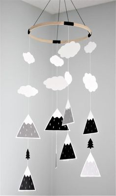 Mountains Baby Mobile