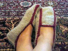 Πλεκτά loafers της Κ.Σεμινάριο Πλέξιμο με Βελόνες Γ΄Κύκλος.