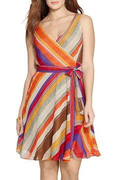 71f5097bbdc Lauren Ralph Lauren Stripe Fit  amp  Flare Dress (Plus Size) available at