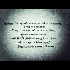 Indonesia writer quote..
