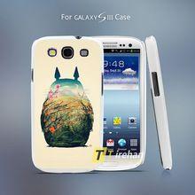 Totoro background Style Hard White Plastic Case Cover for Samsung Galaxy S3 S4 S4 Mini S5 S6 S6 Edge