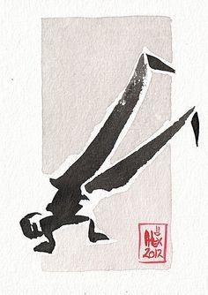 Encres : Capoeira - 200 [ #capoeira #ink #painting ]