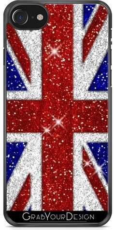 GrabYourDesign - Case for Ipod Touch 6 Glitters Shiny Union Jack Flag - by Jack Flag, Ipod Touch 6th, Cool Iphone Cases, Union Jack, Glitters, Iphone 7, Symbols, Design, Iphone Seven