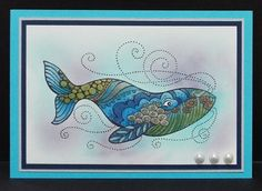 Stampendous Stylized Whale CRP302. Julie Makela
