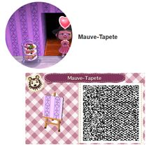 Mauve Tapete by Hanne