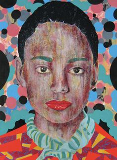 I am so intrigued by the work of South African, Finland/New York-based artist Mustafa Maluka . He takes your average Jane/John Doe por. Drawing Portraits, Drawings, Contemporary African Art, John Doe, South African Artists, Africa Art, Cultural Identity, A Level Art, Abstract Portrait