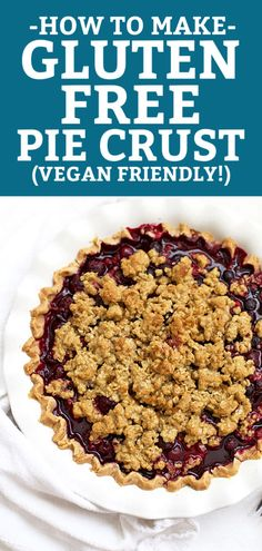 How to Make Gluten Free Pie Crust (WITH VIDEO!) - A step-by-step tutorial for making gorgeous, flaky gluten free pie crust! Gluten Free Gifts, Gluten Free Treats, Gluten Free Desserts, Dairy Free Recipes, Vegan Recipes Easy, Dessert Recipes, Tart Recipes, Gluten Free Pastry, Gluten Free Baking