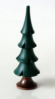 "Dark Green Evergreen, 3-3/4"". Hand-carved tree, Seiffen, Erzgebirge, Germany. Available at www.mygrowingtraditions.com"