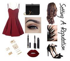 """""""Setting A Reputation"""" by mel2016 ❤ liked on Polyvore featuring Glamorous, STELLA McCARTNEY, Mulberry, Forever 21, Lana, Chanel, Yves Saint Laurent and Lime Crime"""