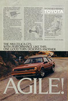 1984 Toyota Celica GTS advert