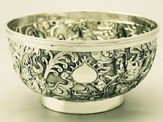 A fine antique Chinese Export Silver bowl; part of our Chinese/Asian silverware collection  http://www.acsilver.co.uk/shop/pc/Chinese-Export-Silver-Bowl-Antique-Circa-1890-75p3813.htm