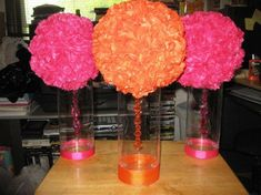 Stunning jar centerpieces for girls graduation party table