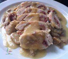 Pechugas de pollo rellenas de jamón y queso