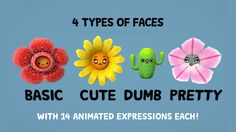 Flowers With Faces Pack on Unity Asset Store 2
