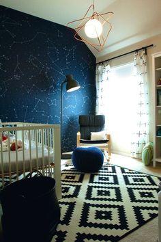 Una hermosa decoración para la pared del cuarto de los niños : constelaciones y estrellas , justo para que los peques dejen volar su imaginación