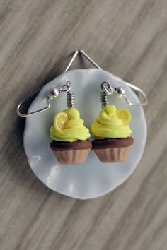 Polymer Clay Miniature Food Jewelry Lemon by MySecretCravings, 14.00