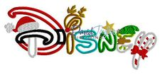 Disney  Xmas  Embroidery Machine Design  Applique  by DTDigitizing