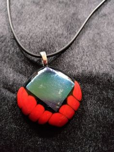 Eva Dominello dichoric glass with red rod. Australian Art, Venetian Glass, Artist Art, Turquoise Bracelet, Glass Beads, Pendant Necklace, Jewels, Jewellery, Unique Jewelry