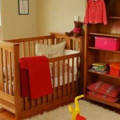 Put away the fragile items and take some of these tips for toddler-proofing their bedroom: Toddler Proofing, Custom Made Furniture, Cot, Baby Care, Bassinet, Bunk Beds, Your Child, Cribs, Drawers