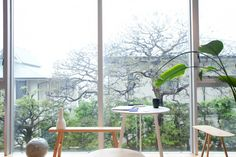 Kurando Furuya — Editor, Apartment and Studio, Shibuya and Akihabara, Tokyo Tokyo Apartment, Apartment Living, Indoor Outdoor, Outdoor Decor, Sweet Home, Interior Decorating, Interior Design, Big Windows, Green Rooms