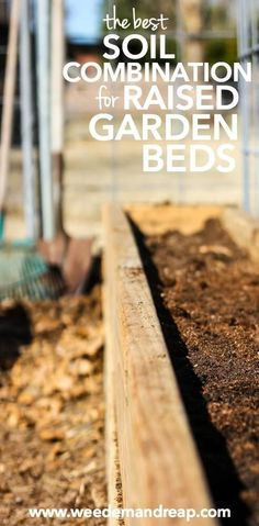 The BEST Soil Combination for Raised Garden Boxes   Weed 'Em and Reap