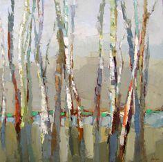winter birch by Barbara Flowers