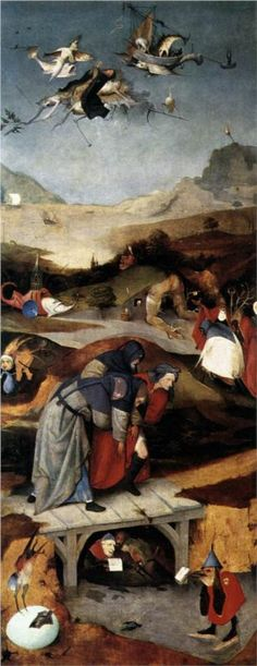 Hieronymus Bosch,Temptation of St. Anthony, c. 1505 - 1506  www.artexperiencenyc.com
