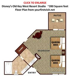 Photo tour of the living side of a one bedroom villa at disney 39 s boardwalk villas disney for Disney old key west 3 bedroom villa