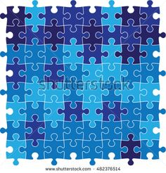 blue jig saw puzzle