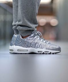0b1ffe4e0 Nike Air Max 95  Silver Nike Shoes Outlet