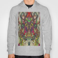 Minotaur Courant by K Shayne Jacobson  HOODY / UNISEX PULLOVER HEATHER GREY FRONT PRINT SMALL $38.00