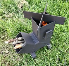 Rocket Stove with Removable top and Self Feeding Camping